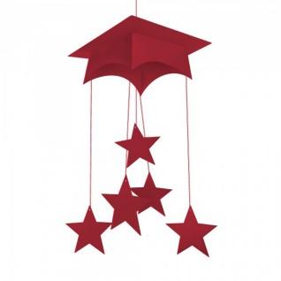 Abi oder Examen Doktorhut Mobile in Rot