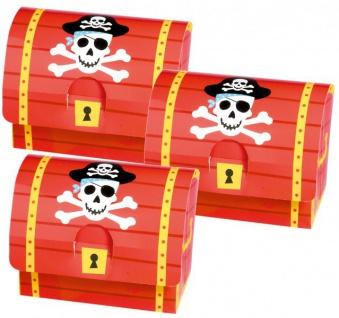 16 Piraten Schatztruhen aus Karton