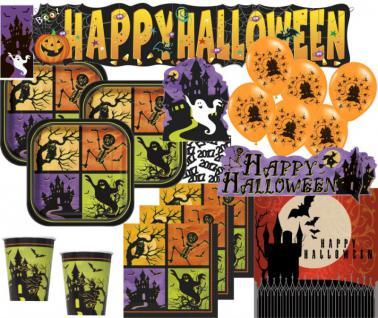XXL 67 Teile Halloween Deko Set Geisterhaus 8 Personen - Spukschloß