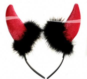 Rote Teufelshörner Haarreif