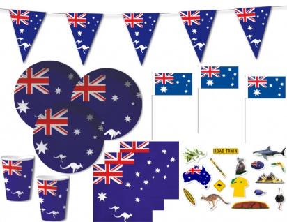 XL 52 Teile Australien Party Deko Set für 10 Personen