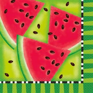 16 Servietten Wassermelone