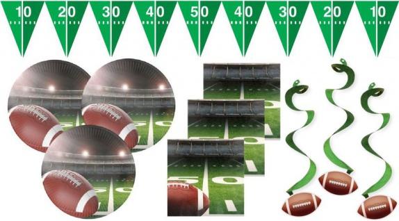 28 Teile American Football Superbowl Party Deko Set für 8 Personen