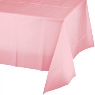 Plastik Tischdecke in Pastell Rosa