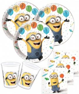 52 Teile Minions Party Deko Set für 16 Personen