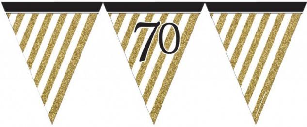 34 Teile Dekorations Set zum 70. Geburtstag oder Jubiläum - Party Deko in Schwarz & Gold - Vorschau 3