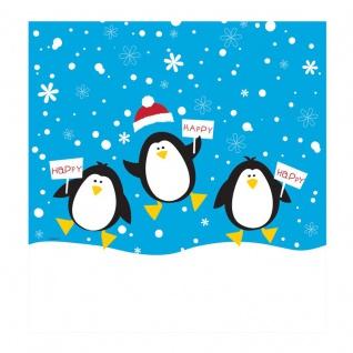 Plastik Tischdecke Pinguine im Schnee