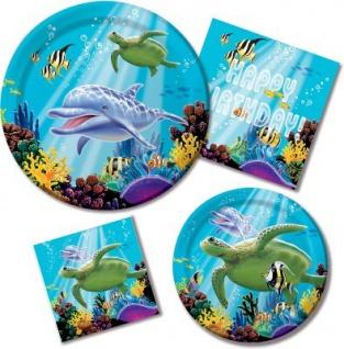 8 kleine Ozean Party Teller - Vorschau 3