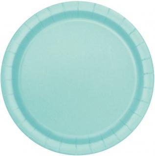 50 Teile Party Deko Set Pastell Mint für 14 Personen - Vorschau 2
