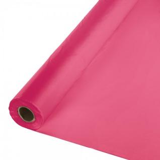 30 Meter Rolle Plastik Tischdecke Pink Magenta