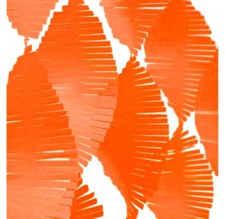 Fransen Girlande aus Seidenpapier in Orange 24 Meter