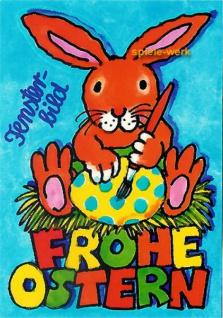 Fensterbild Postkarte Frohe Ostern