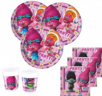 36 Teile Trolls Party Set für 8 Kinder
