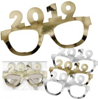 4 brillen 2019 aus pappe in gold und silber f r silvester kaufen bei kids party world. Black Bedroom Furniture Sets. Home Design Ideas