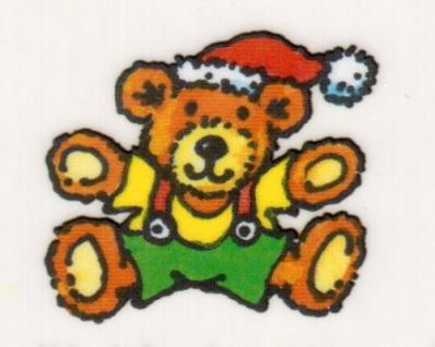 Mini Fensterbild Weihnachts Teddy