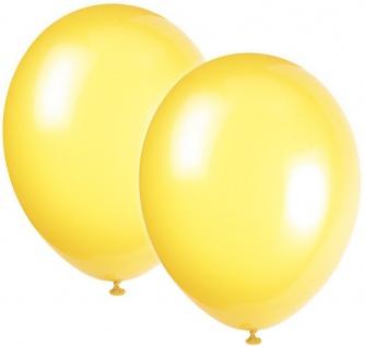 10 Luftballons Kristall Gelb 30cm