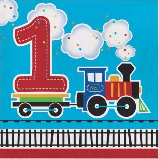 16 Servietten zum 1. Geburtstag Eisenbahn Party