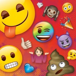 16 Servietten Emoji Regenbogen