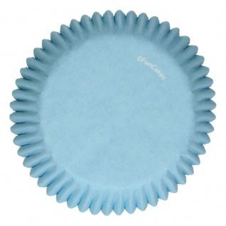 48 Muffin Förmchen Hellblau