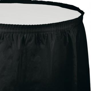 Plastik Tischrock in Schwarz