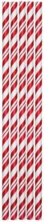 24 Papier Trinkhalme Rot Weiß gestreift