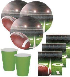 32 Teile American Football Superbowl Party Deko Set 8 Personen