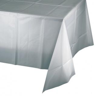 Plastik Tischdecke Silbergrau