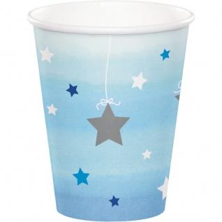 48 Teile Erster Geburtstag Blinke Kleiner Stern Blau Party Deko Set 16 Personen - Vorschau 3