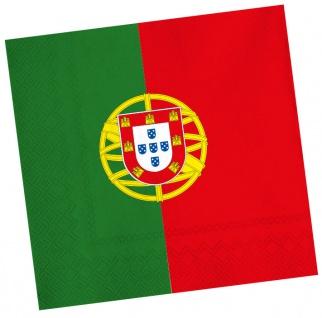 20 Servietten Portugal Party Deko