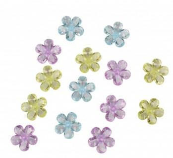 18 Stück Acryl Blumen Tisch Dekoration Pastell Mix