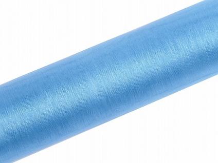 Organza Tischläufer Hellblau 0, 16 x 9m