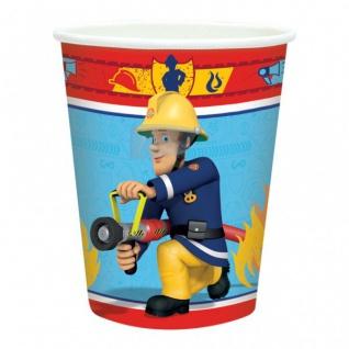 8 Papp Becher Feuerwehrmann Sam