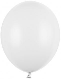 100 Luftballons Weiß 30cm