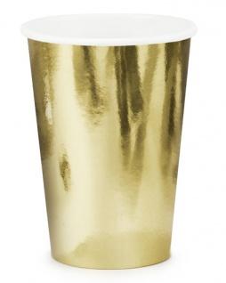 6 Papp Becher Gold Metallic