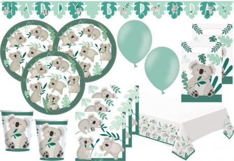 XL 52 Teile kleiner Koala Party Deko Set 8 Personen