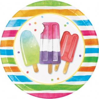 8 Teller Eis Party Hallo Sommer