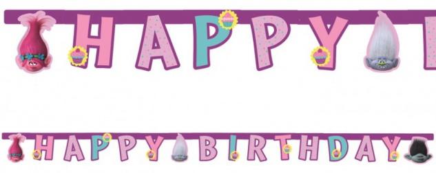 Trolls Geburtstags Girlande