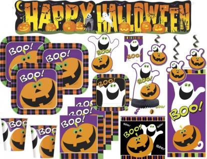 XXL 104 Halloween Party Deko Set Kürbis Schreck Gespenster 8 Personen