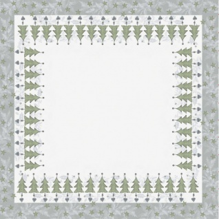 Kleine Tischdecke silberne Weihnachtsbaum Pendel