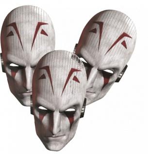 6 Star Wars Rebels Party Masken aus Pappe Inquisitor