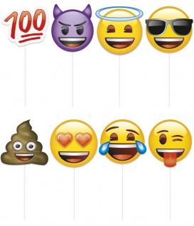 Photo Booth und Selfie Set Emoji Faces