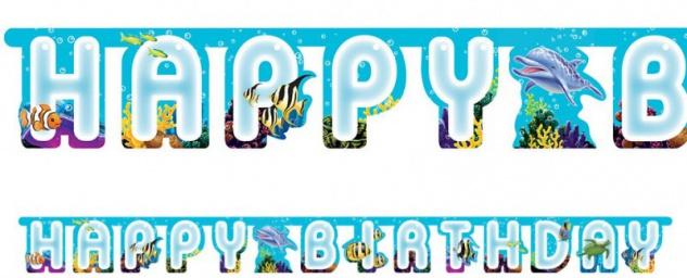 Geburtstags Girlande Ozean Delfin Party
