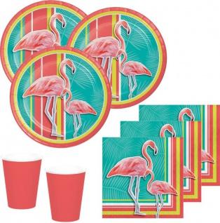 48 Teile Flamingo Island Party Deko Set Sommer Party 16 Personen