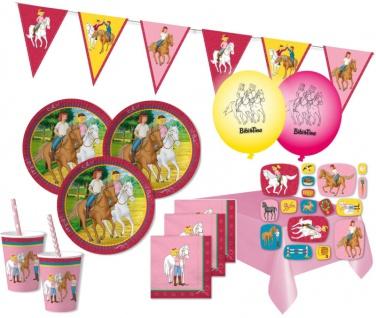 XXL 83 Teile Bibi und Tina Party Deko Set - für 16 Kinder Geburtstag