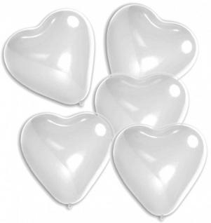 5 Herz Ballons in Weiß