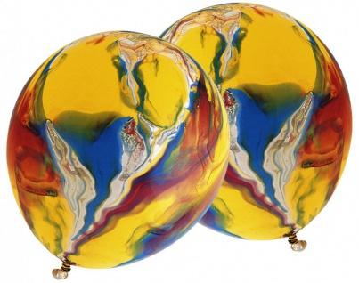 6 bunt marmorierte Ballons