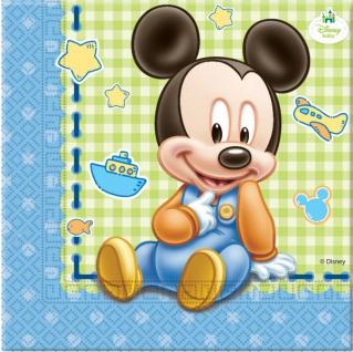 20 Servietten Baby Micky
