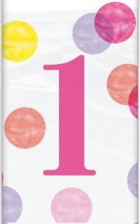 XL 42 Teile Erster Geburtstag Rosa Punkte Party Deko Set 8 Personen - Vorschau 3
