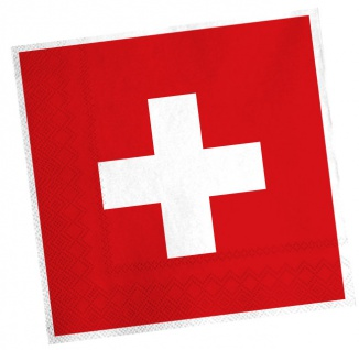 20 Servietten Schweiz Party Deko