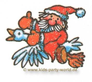 Mini Glitzer Fensterbild Weihnachtsmann